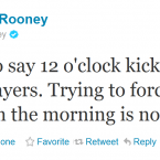 Wayne Rooney bemoans having to put up with the inconvenience of early kick-offs.