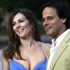 Elizabeth Hurley with Arun Nayar finalised their divorce in June after announcing their split last December.