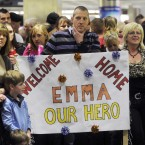 Friends and family wait for loved ones at Dublin Airport. Photo: Laura Hutton/Photocall Ireland