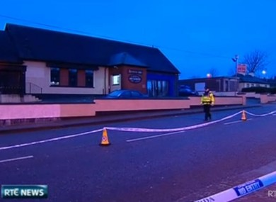 The scene outside the pub in Ballyphehane where Gerard Delaney died early yesterday
