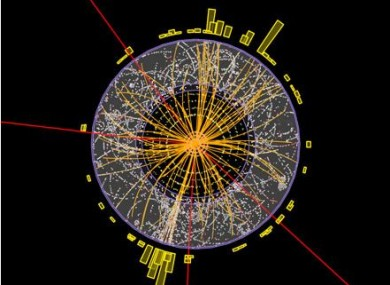 Results from CERN today which may or may not show that Higgs boson exists. Helpful.