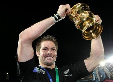 McCaw lifting the Webb Ellis Cup