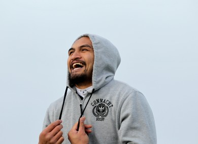 George Naoupu at Connacht squad training yesterday.