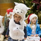 Eoin Huitema from Blanchardstown, aged 2, takes centre stage at the Irish Life charity nativity play in Dublin.