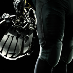 The helmet comes with reflective gladiator wings.