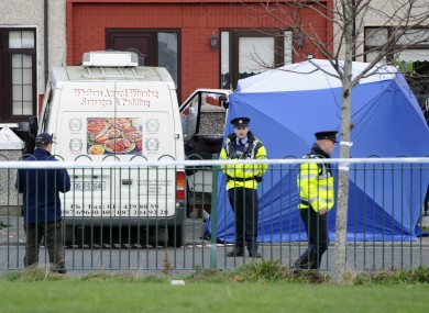 The scene of the shooting in Ballyfermot in November