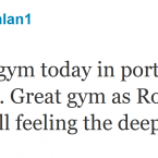 Alan Quinlan is a big Anchorman fan evidently.