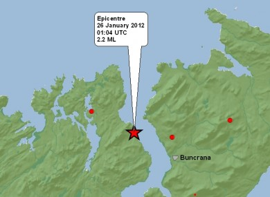 BGS map showing this morning's earthquake.