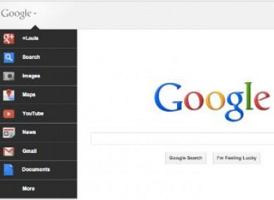 The new Google homepage which is rolling out at the moment