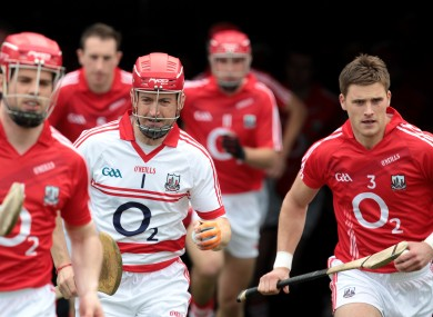 Donal Og Cusack with Cork teammates.