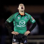 Connacht's Miah Nikora shows his disappointment after missing a late drop goal.