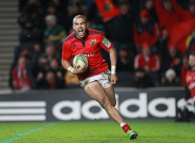 Zebo scoring his third try on Saturday.