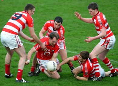 Cork's Alan O'Connor surrounded by the CIT defence.