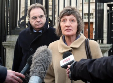 Geraldine Finucane, wife of Pat, outside court today after being granted a judicial review.