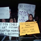 Pro choice information demo in Dublin 1992 Pic Photocall Ireland