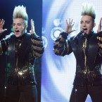 Jedward, highlighting their iconic hairstyle(s). (Image: KOBPIX)