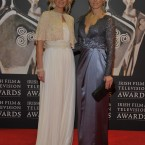 Stylist Lisa Fitzpatrick and RTÉ presenter Kathryn Thomas opt for floor-length gowns. (Photo by KOBPIX)