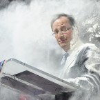 Francois Hollande is perturbed after he is covered in flour(AP Photo/SZG)