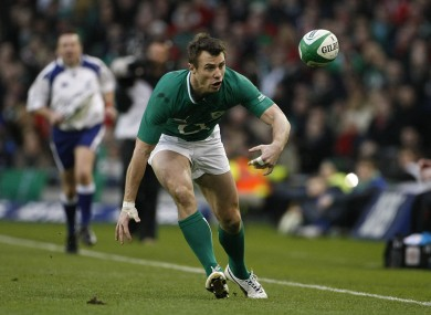 Ireland's Tommy Bowe in today's Six Nations clash.