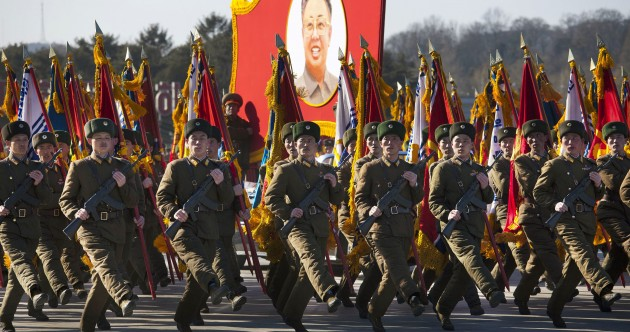 In pictures: North Korea's military parade in honour of Kim Jong Il