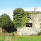 There are beautiful views surrounding this derelict gamekeeper's cottage. Planning permission also exists for its part demolition and extension. Price? €25k.