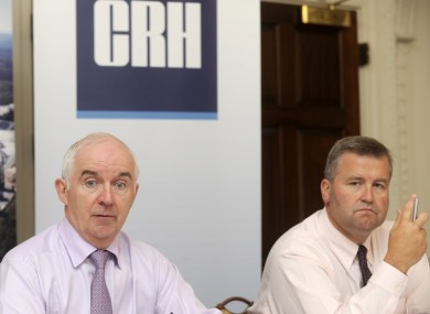 CRH CEO Myles Lee and COO Albert Manifold pictured last August