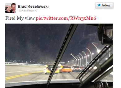 Keselowski stayed out of harms way.