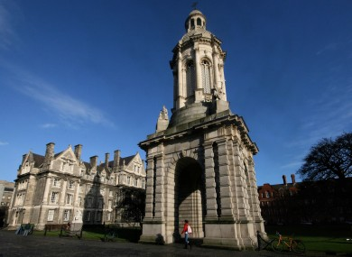 Buildings on the campus of Trinity College in Dublin