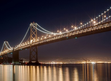 Bay Bridge, San Francisco at night