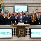 Taoiseach Enda Kenny rings the opening bell at the New York Stock Exchange on March 19, 2012 in New York City. (Photo by Ben Hider/NYSE Euronext)