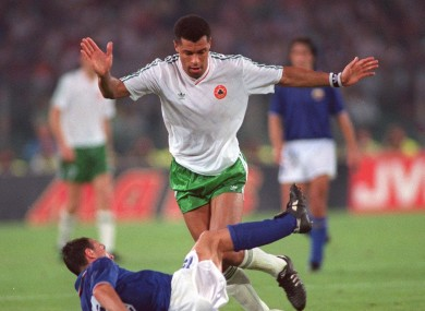 Paul McGrath in serene form for Ireland at Italia '90