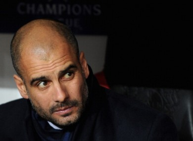 Barca manager Pep Guardiola.