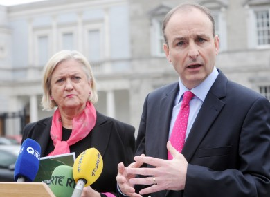 Senator Mary White, with Micheal Martin last month: White was one of two party vice-presidents to abstain in voting to expel Bertie Ahern last night.