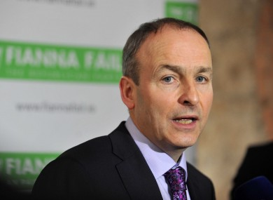 Micheál Martin at the ard fheis yesterday