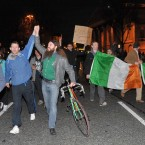 Marching down Westmoreland Street. Photo: Laura Hutton/Photocall Ireland
