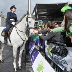 The crowd leaning in to pet a garda horse (Photo: Laura Hutton/Photocall Ireland)