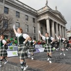 Some obligatory dancing on O'Connell Street (Photo: Laura Hutton/Photocall Ireland)