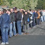 The queue outside the Working Abroad Expo at the RDS this morning. 