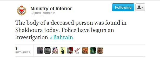 BAHRAINTWEET