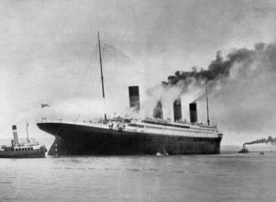 The (original) Titanic leaving Southampton in April 1912.