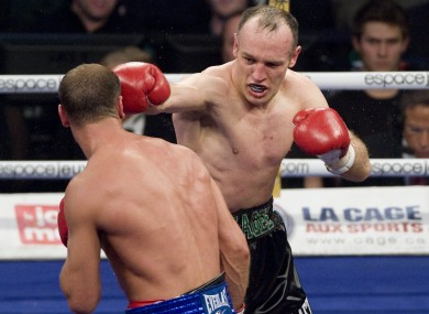 Brian Magee, right, in action against Lucian Bute last year.