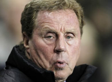 Harry Redknapp: aiming to finish above Arsenal.