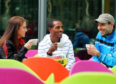 Linda Byrne, Kenenisa Bekele and Mark Kenneally