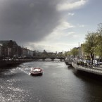 An ominous cloud pushes out the sunlight as seen from the Ha'penny Bridge in Dublin today as Ireland braces itself for a forecasted one month of rain in two days. Photo: Mark Stedman/Photocall Ireland