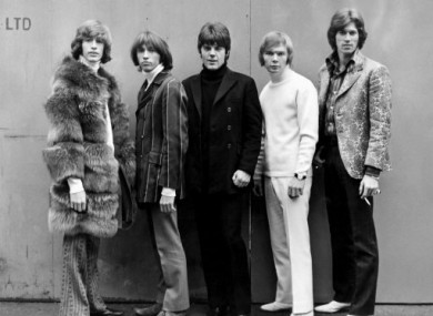 Robin Gibb (far left) with his bandmates in 1967.