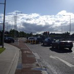Cycle lane outside the Beacon Hotel in Sandyford, Dublin. (Image via b.lorg)