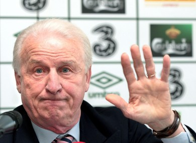 Giovanni Trapattoni: final preparations.