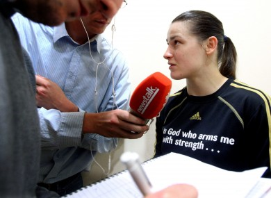 Katie Taylor: in the spotlight. 