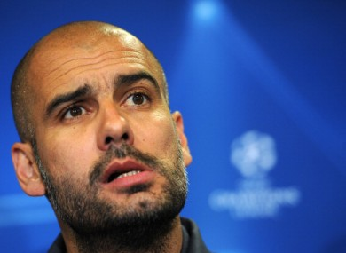 Pep Guardiola: facing familiar foes Chelsea at Stamford Bridge.