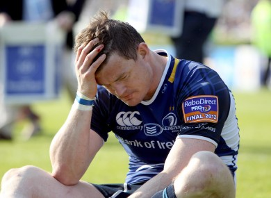A dejected Brian O'Driscoll reflects on Leinster's final defeat.